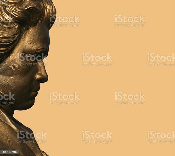 Profile Of Beethoven Stock Photo - Download Image Now