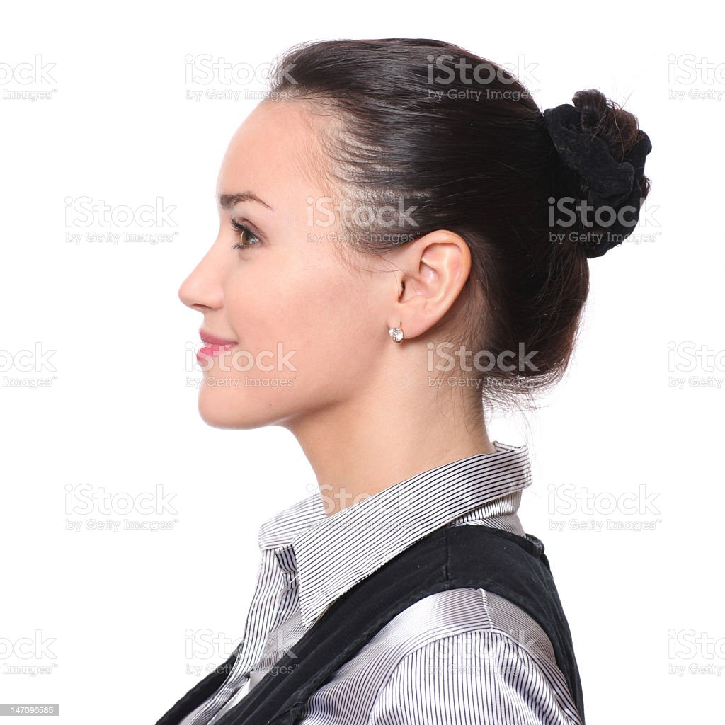 profile of bussinesswoman stock photo
