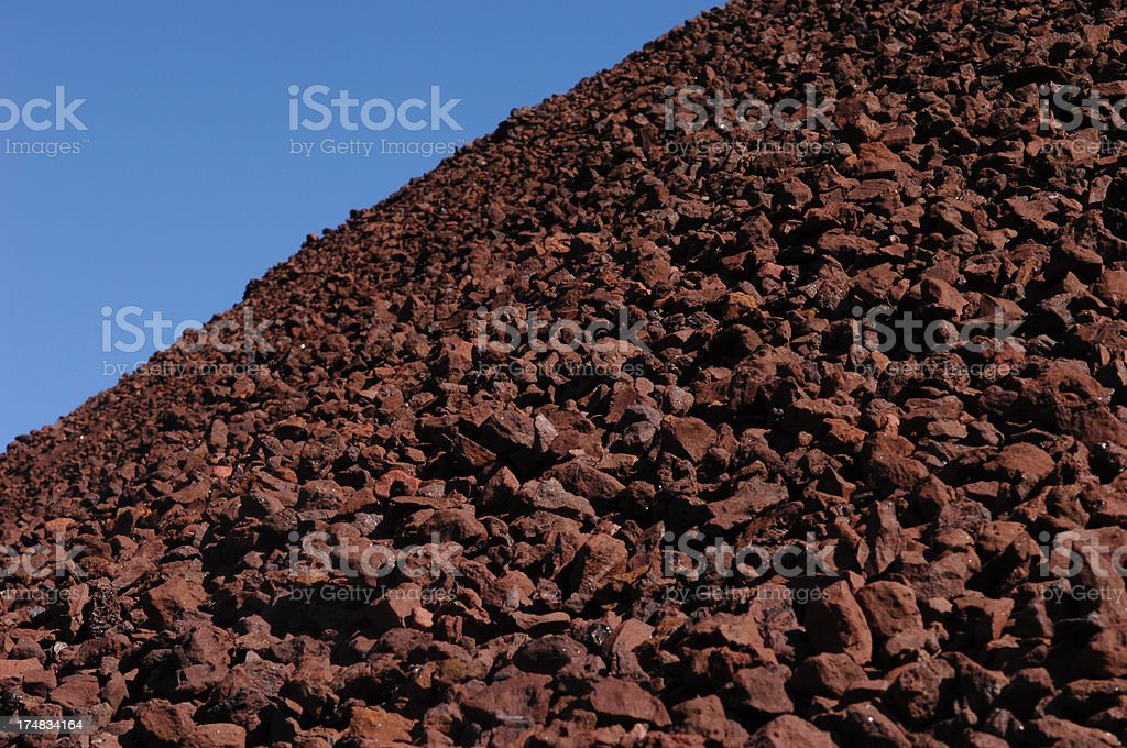 Profile of iron ore stockpile royalty-free stock photo