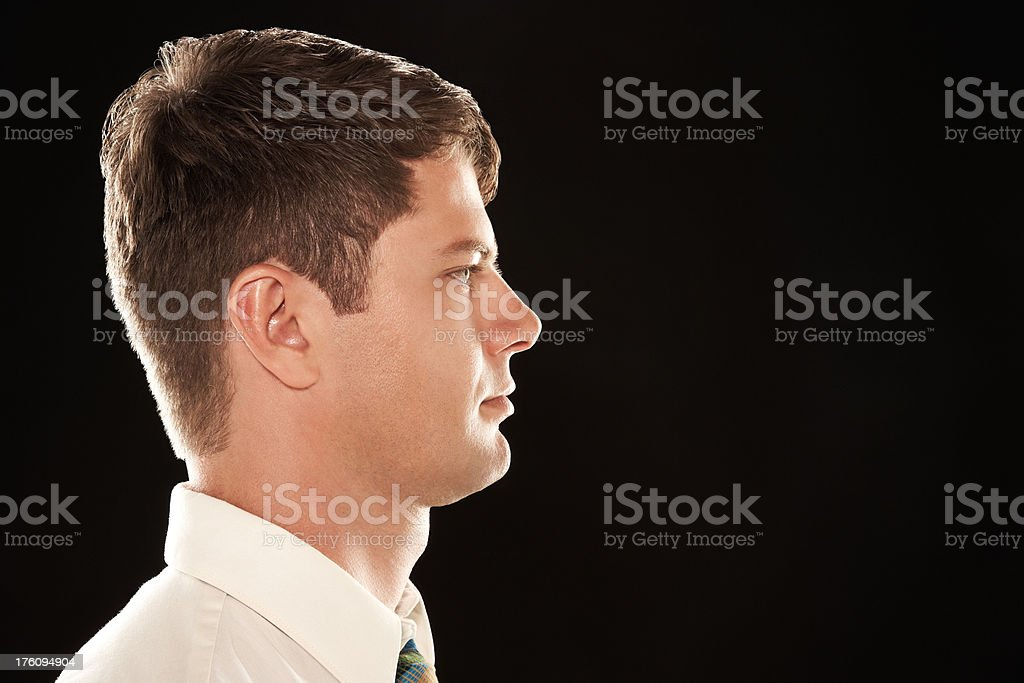 Profile of man royalty-free stock photo