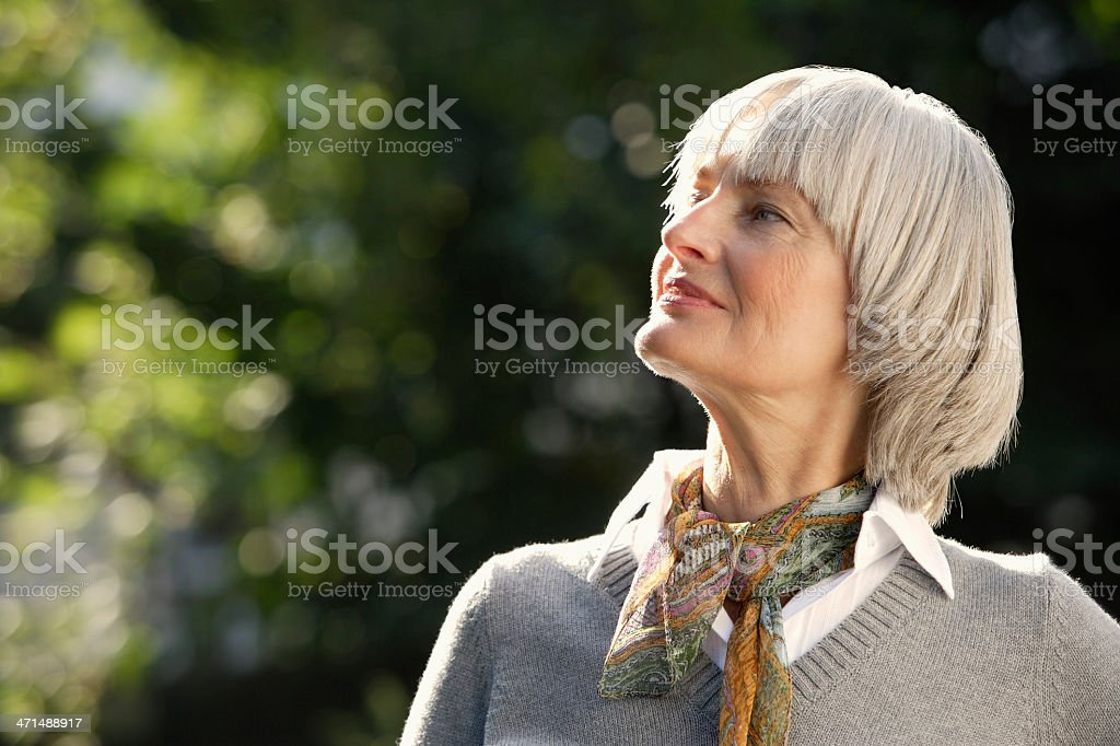 Profile of senior woman royalty-free stock photo