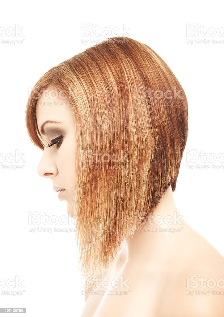 Profile of Serious Woman royalty-free stock photo