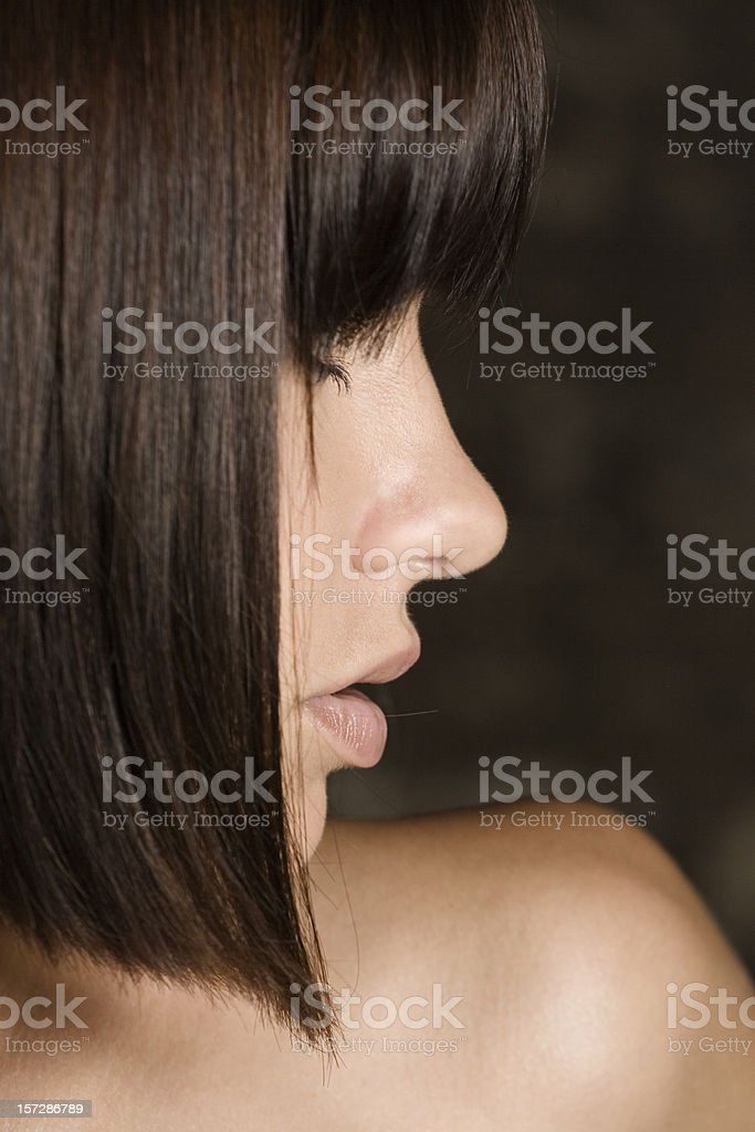 Profile of woman's face royalty-free stock photo