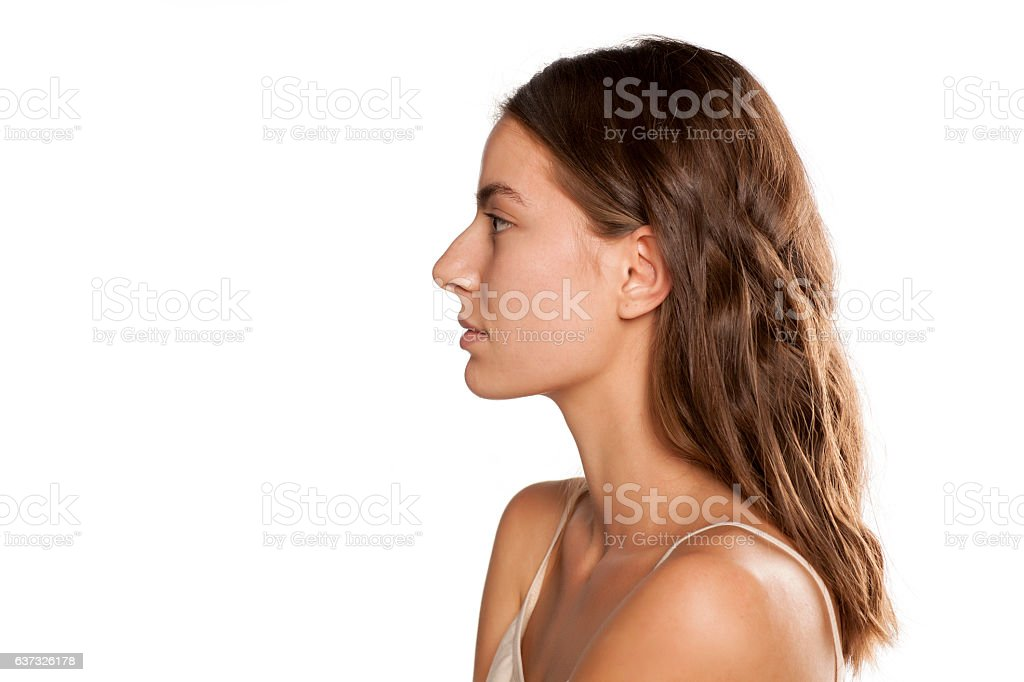 profile of young beautiful woman – Foto
