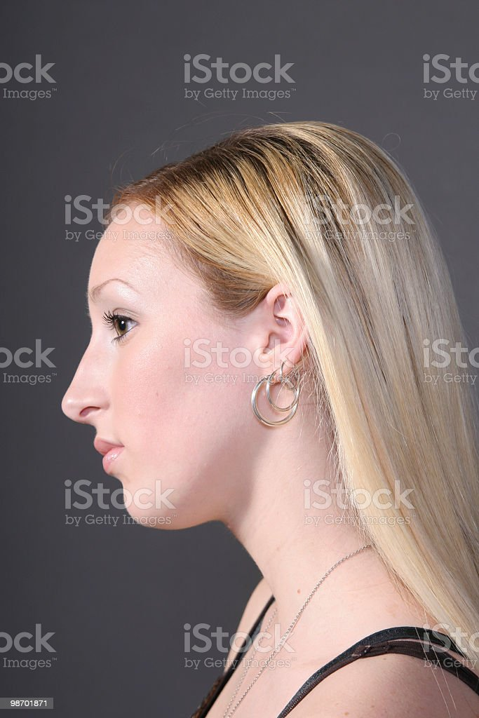 Profile of young woman royalty-free stock photo