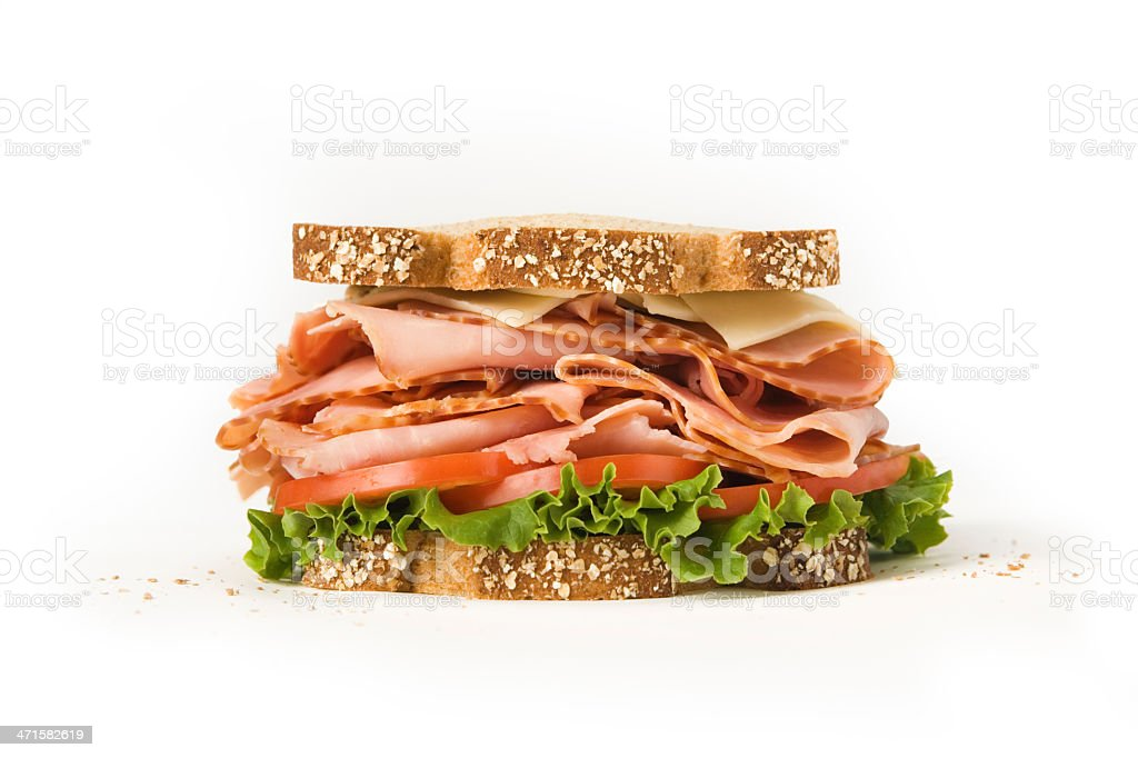 Profile photo of a large Ham Sandwich royalty-free stock photo