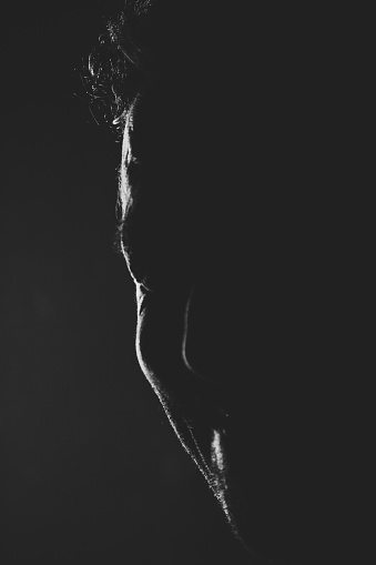 834639402 istock photo Profile photo of a man on black background 890239912