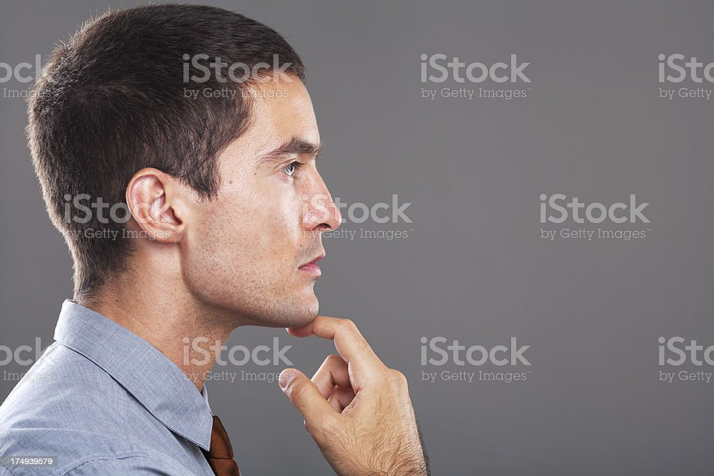 profile portrait of a handsome businessman royalty-free stock photo
