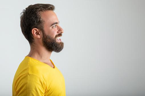 Profile portrait of man