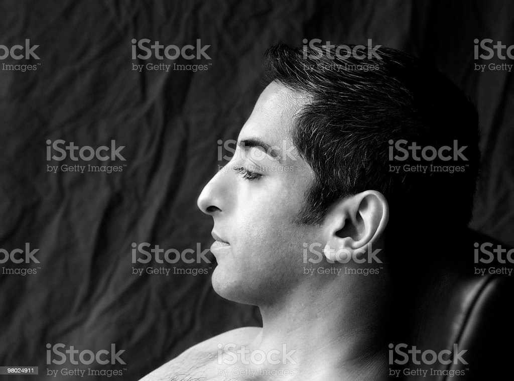 Profile Portrait of Persian Man royalty-free stock photo