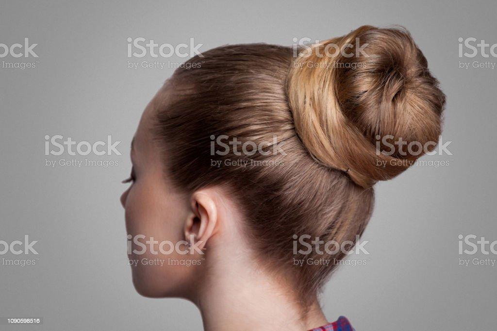 Profil Seite Ansicht Closeup Portrait Frau Mit Kreativen