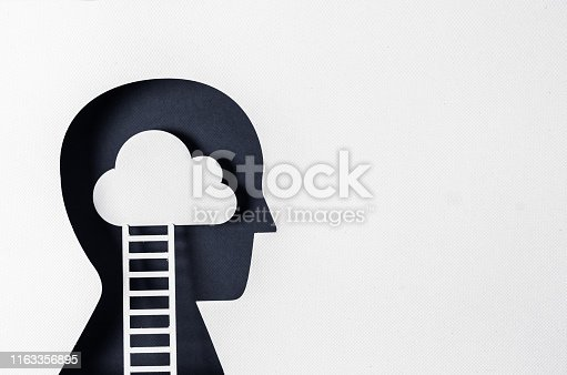 istock Profile view and day dreaming 1163356895