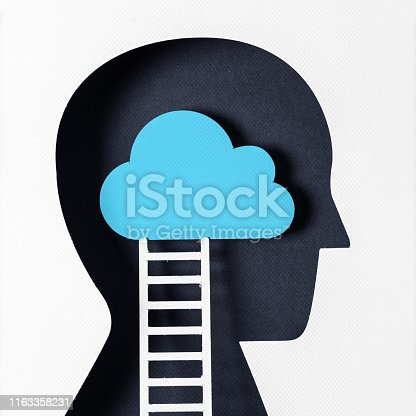 istock Profile view and day dreaming 1163358231