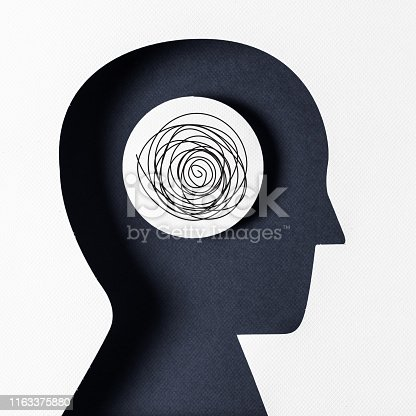 istock Profile view, and Mental Illness 1163375880