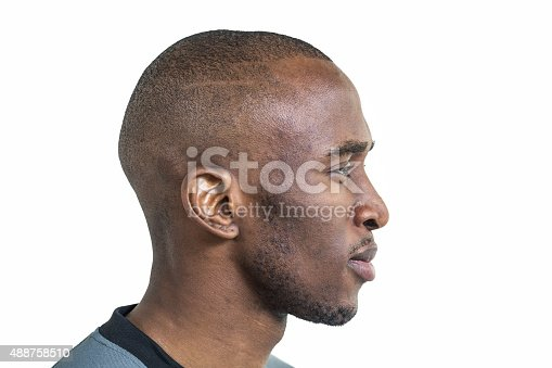 istock Profile view of confident sportsman 488758510
