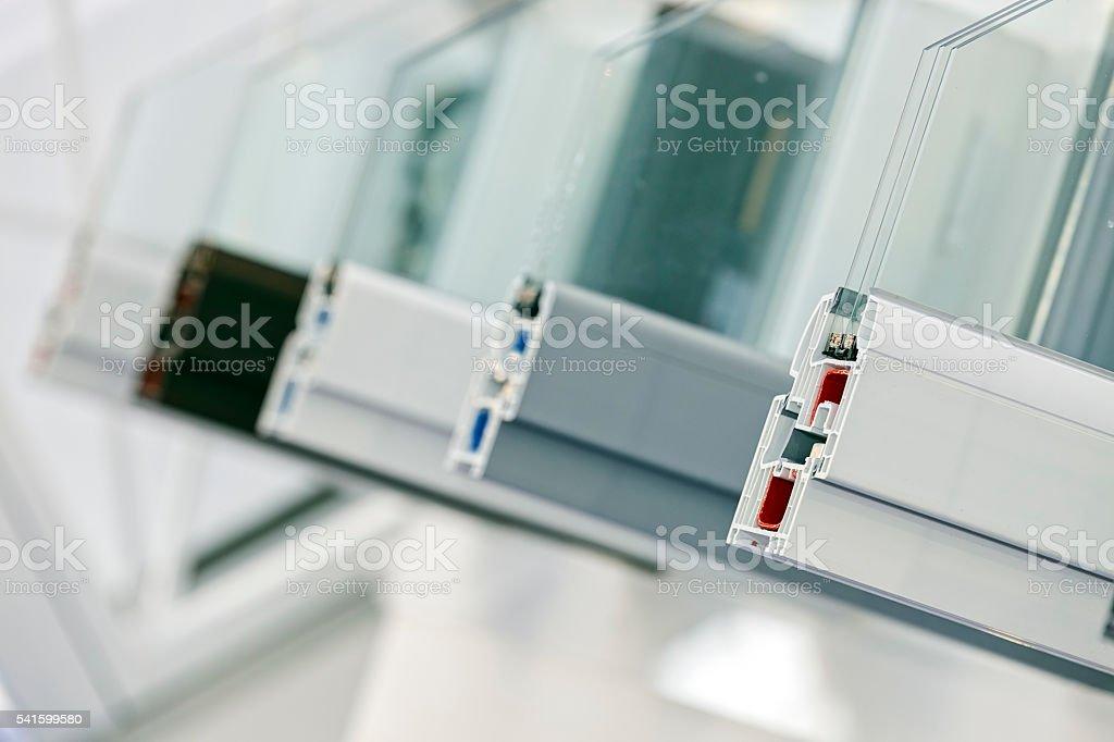 PVC profiles for window stock photo