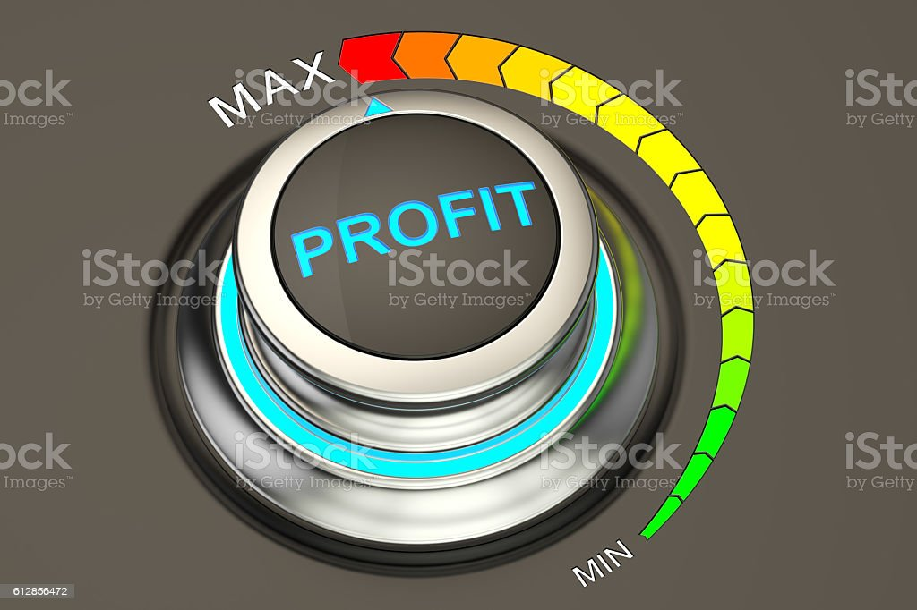 Profit concept, highest level of success. 3D rendering stock photo