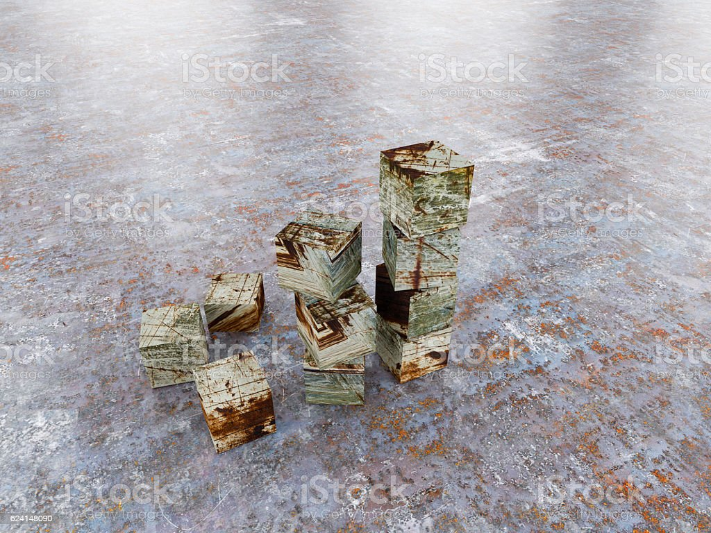 profit going up bar chart with metal texture stock photo