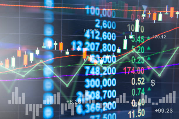 Profit graph of stock market indicator. Profit graph of stock market indicator. Abstract stock data concept. Stock financial statistic graph analysis. Financial fund trade overview in profit graph. Concept Finance almanac stock pictures, royalty-free photos & images