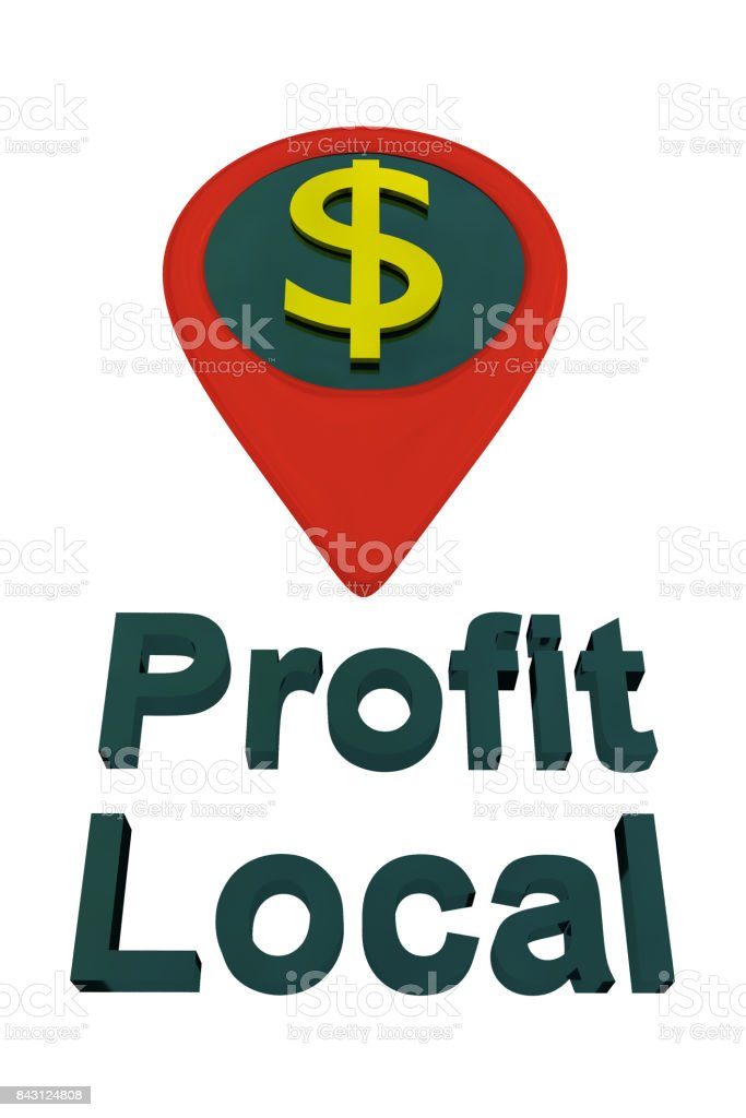 Profit Local GOLDEN concept stock photo