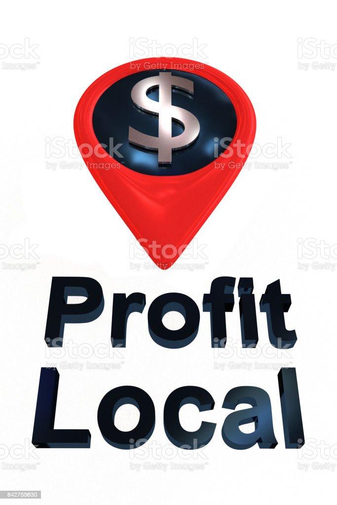 Profit Local SILVER concept stock photo