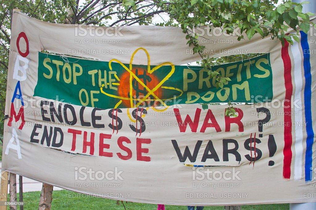 Profit of Doom, Endless War stock photo