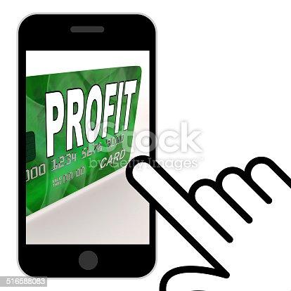 Profit on Credit Debit Card Displaying Earn Money