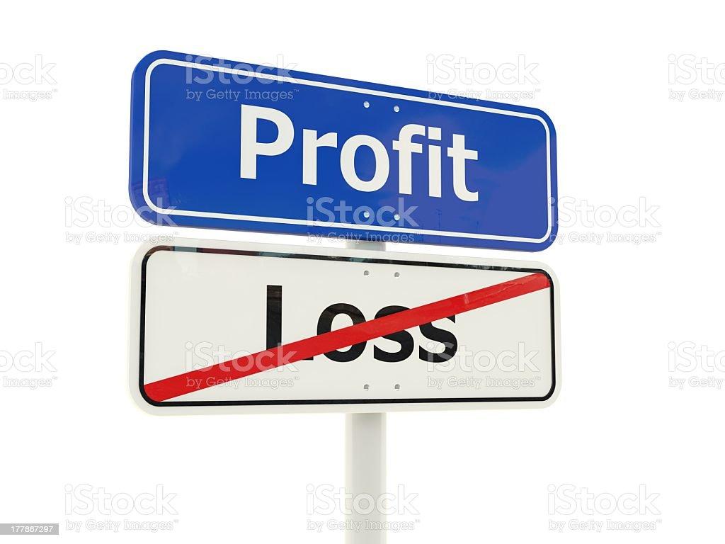 Profit road sign royalty-free stock photo