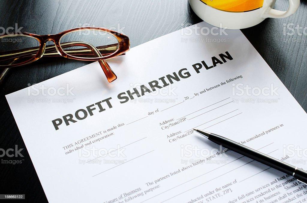 profit sharing plan royalty-free stock photo