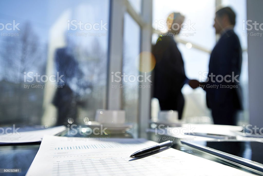 Profitable deal stock photo