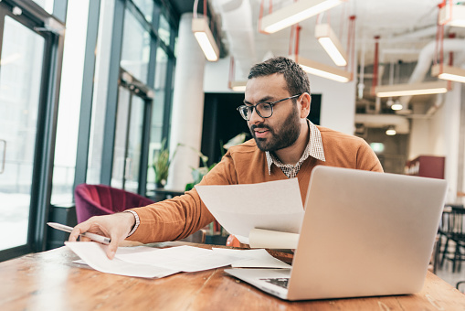 Accountant working with tax filling