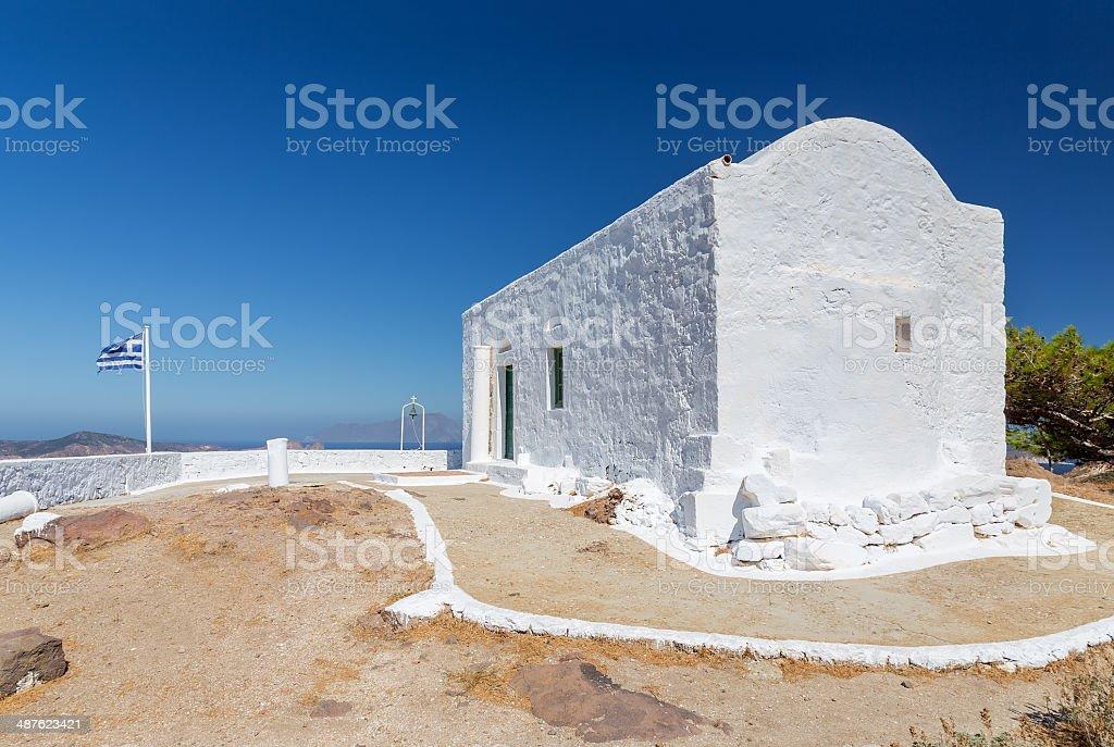 Profitis Ilias chapel, Milos island, Cyclades, Greece stock photo