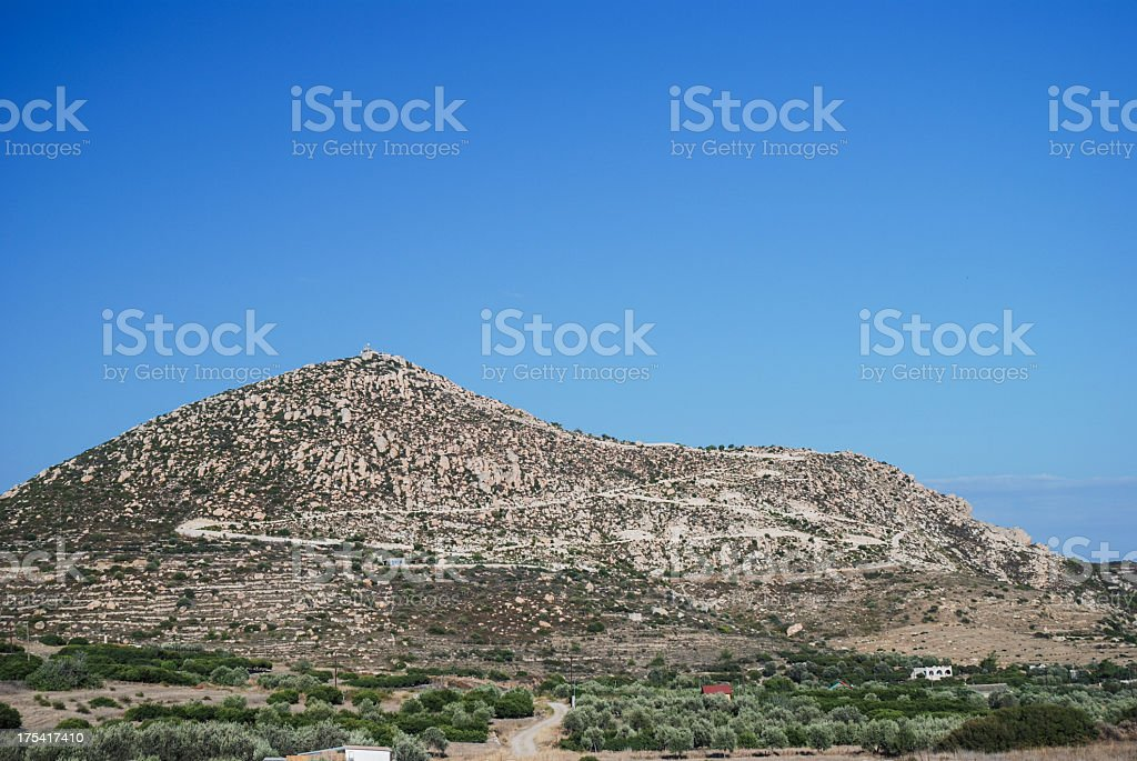Profitis Ilias , Chios stock photo