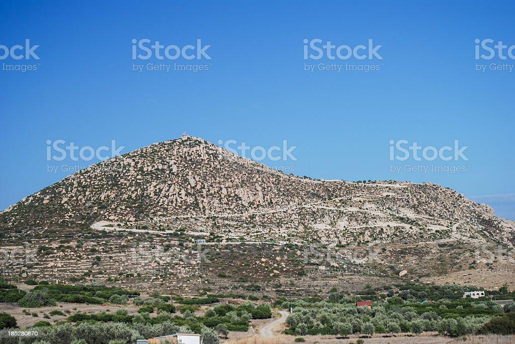 Profitis Ilias hill stock photo