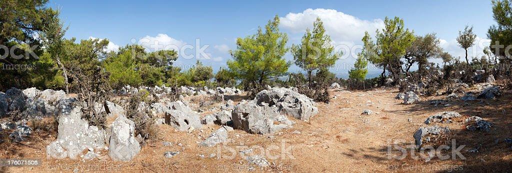 Profitis Ilias, Island of Rhodes, Greece. stock photo