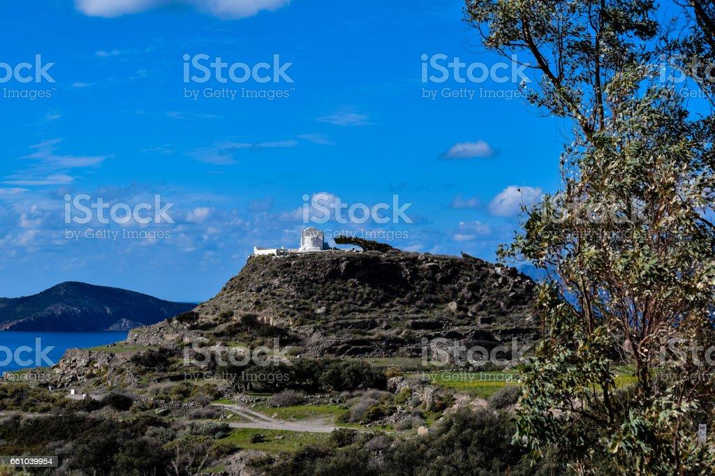 Profitis Ilias (Milos, Greece) stock photo