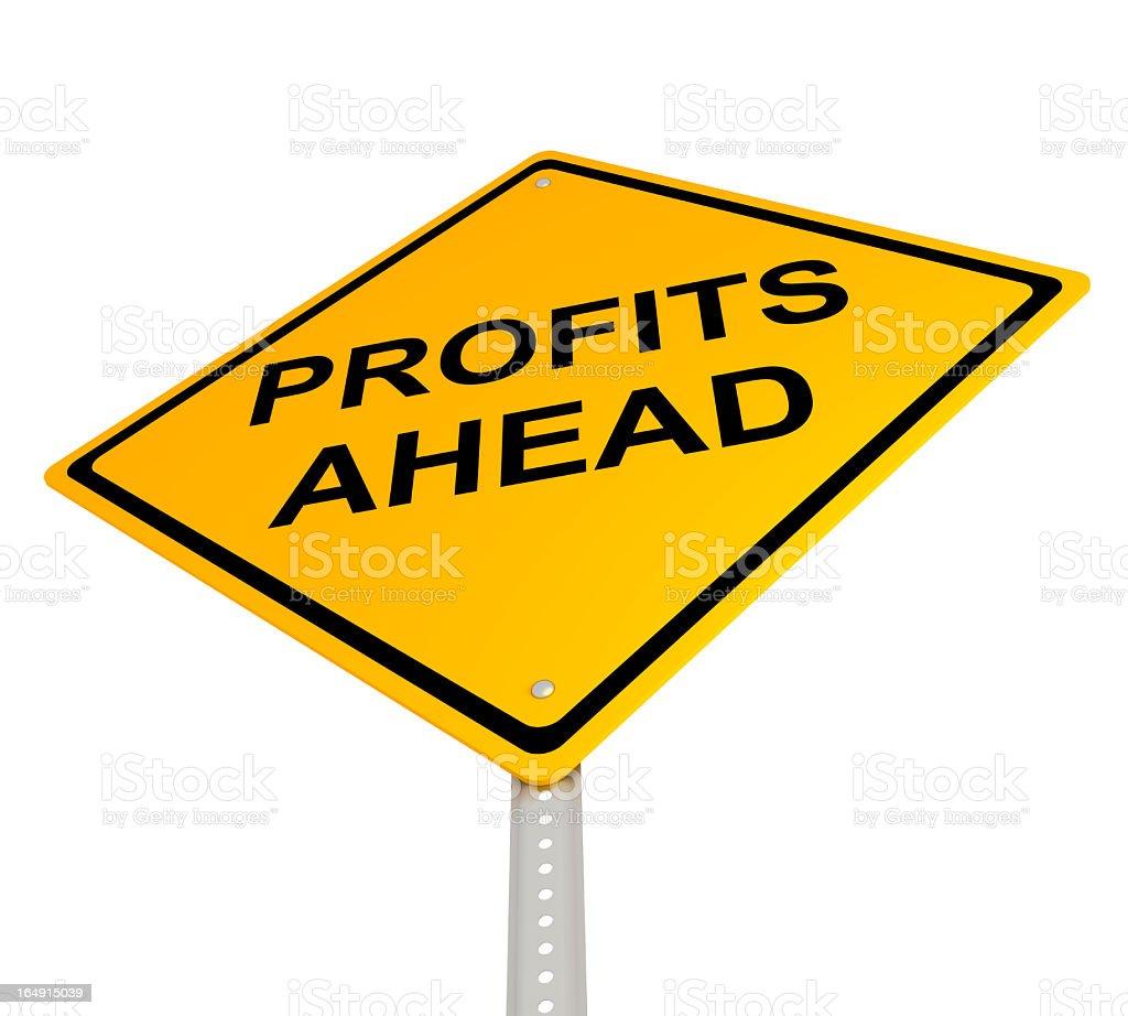 Profits Ahead royalty-free stock photo