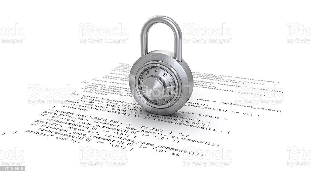 program and lock royalty-free stock photo