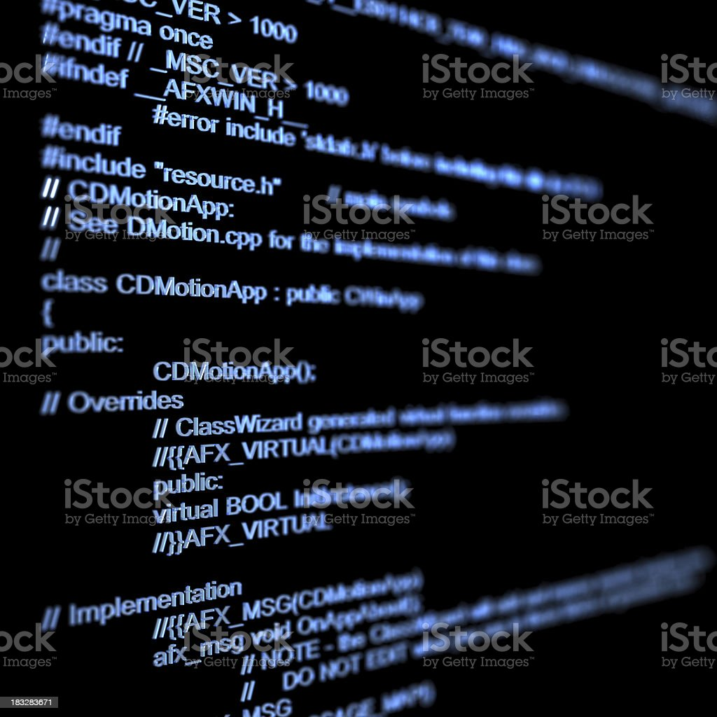 program code royalty-free stock photo