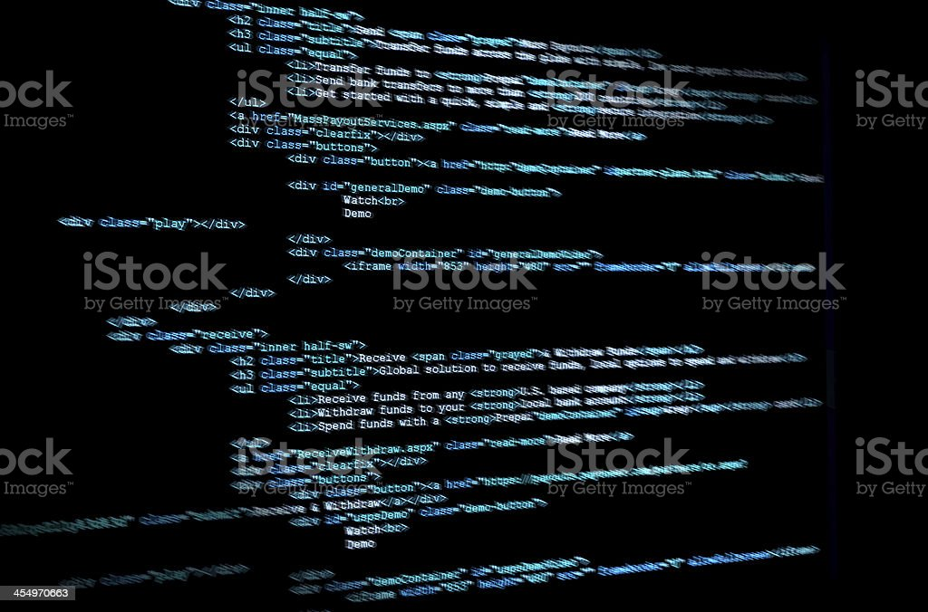 Program code stock photo