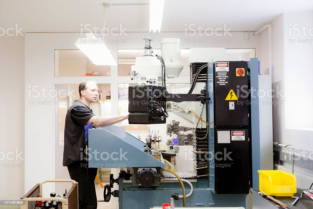 Programmable milling machine royalty-free stock photo