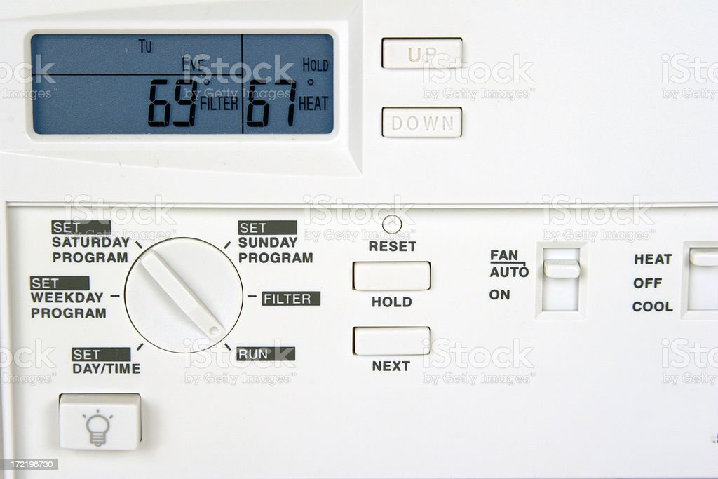Programmable Thermostat royalty-free stock photo