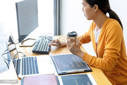 1170082011 istock photo programmer work with Developing programming 1163644681