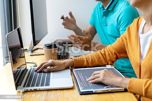 1170082011 istock photo programmer work with Developing programming 1166304906