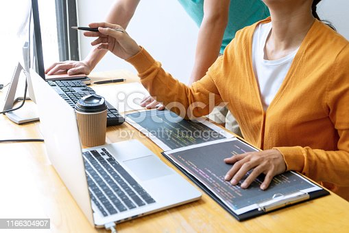 1170082013 istock photo programmer work with Developing programming 1166304907