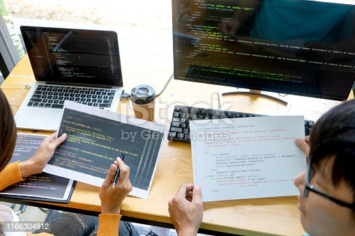 1170082013 istock photo programmer work with Developing programming 1166304912
