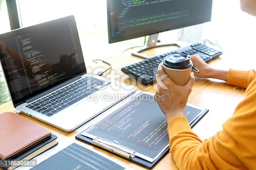 1170082011 istock photo programmer work with Developing programming 1166304916
