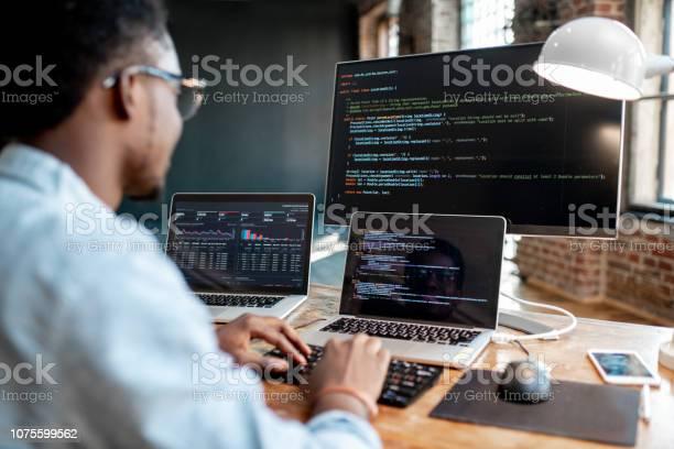 Programmer working with program code picture id1075599562?b=1&k=6&m=1075599562&s=612x612&h=7xunob5zdpirxsskx2vvtm tkkfm5bufgnfabb4qa i=