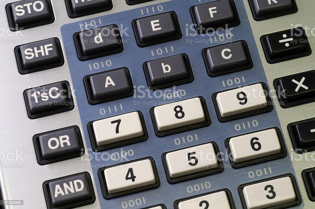 Programmer's calculator stock photo