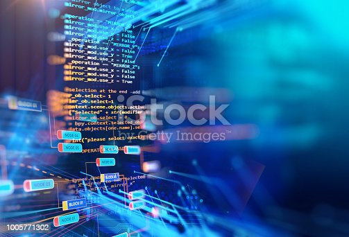 istock Programming code abstract technology background footage 1005771302